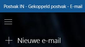 Kies Nieuwe e-mail om een nieuw bericht op te stellen
