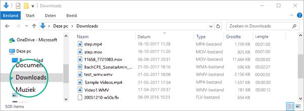 Het geconverteerde bestand wordt gekopieerd naar de map Downloads van uw computer