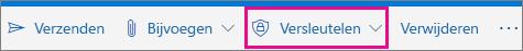 Outlook.com-lint met gemarkeerde knop voor versleutelen