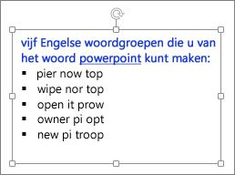 Een tekstvak inPowerPoint opmaken