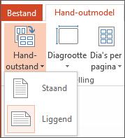 Het menu Hand-outstand