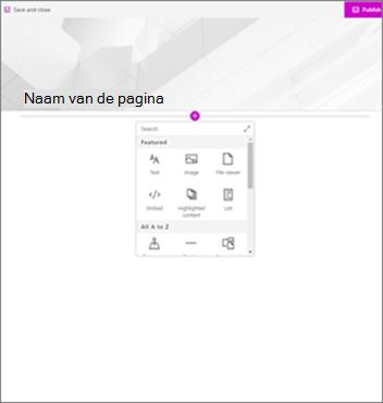Moderne pagina