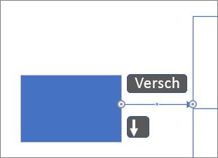 Verbindingslijn pixel voor pixel verplaatsen