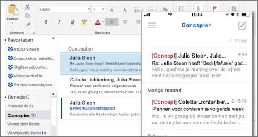 Map Concepten op bureaublad en telefoon