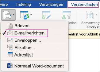 e-mail samenvoegen