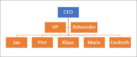 Een typische hiërarchie