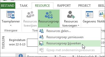 Resourcegroep bijwerken nadat resources in een delend bestand zijn bewerkt