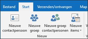 Selecteer nieuwe contact opnemen met een nieuwe contactpersoon wilt maken.