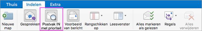 Met Postvak IN met prioriteit zorgt u ervoor dat uw e-mail altijd overzichtelijk is.