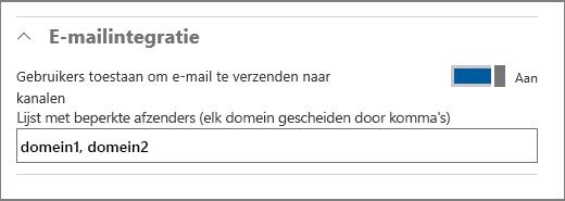 E-mailintegratie