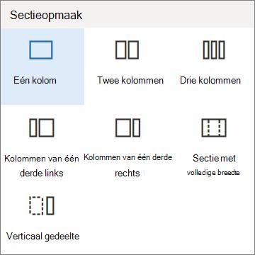 Sectie-indeling