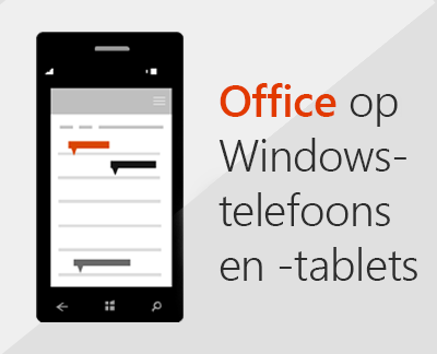 Klik om mobiele Office-apps op een Windows 10-apparaat in te stellen