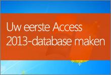 Uw eerste Access 2013-database maken
