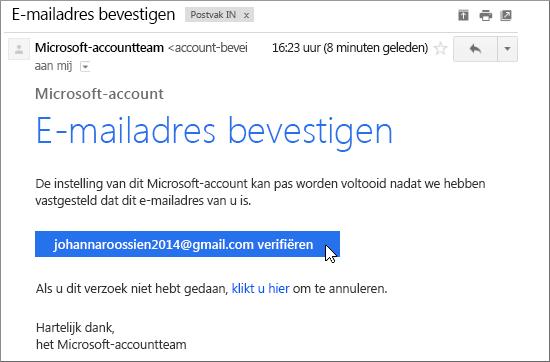 Uw e-mailadres controleren