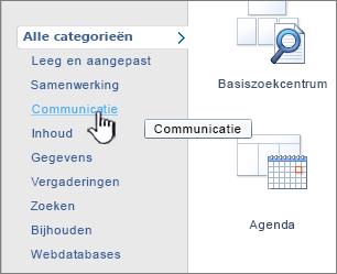 Klik op een categorie en selecteer de gewenste lijst-app