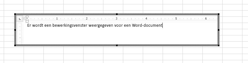 U kunt het ingesloten Word-document rechtstreeks in Excel bewerken.