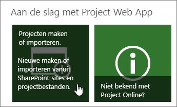 projecten maken of importeren