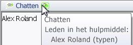 pop-upvenster chatstatus
