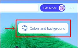 Kleuren en achtergronden kiezen