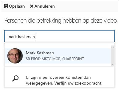 Office 365 video koppelen aan personen