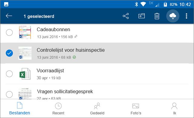Online houden in OneDrive