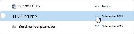 Bestands naam gemarkeerd in document bibliotheek