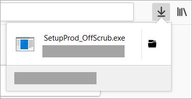 Het downloadbestand met de ondersteuningsassistent zoeken en openen in de Chrome-webbrowser