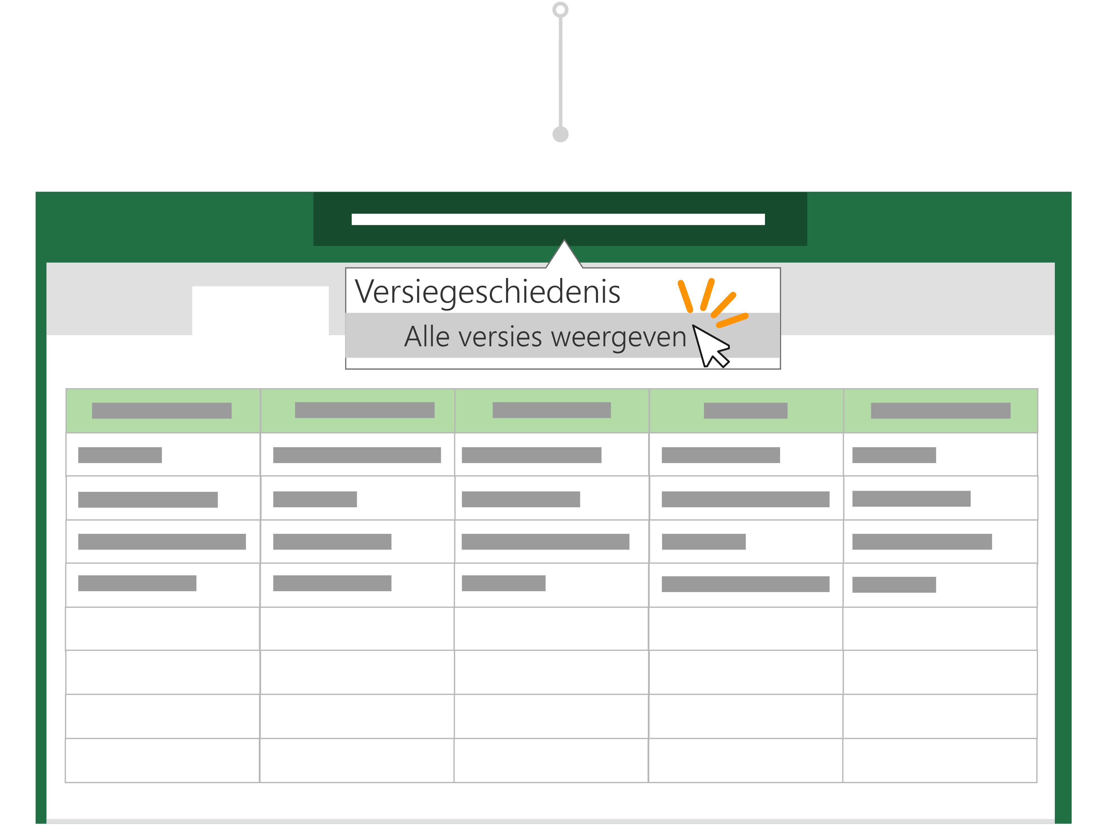 Gebruik versiegeschiedenis om terug te gaan naar een vorige versie van een bestand.