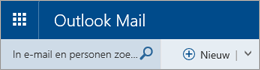 Menubalk van Outlook Mail