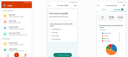 Formulieren in Office Mobile-app