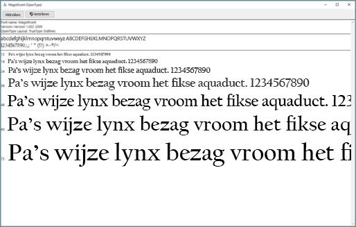 In Windows Lettertypevoorbeeld kunt u lettertypen bekijken en installeren op uw Windows-computer