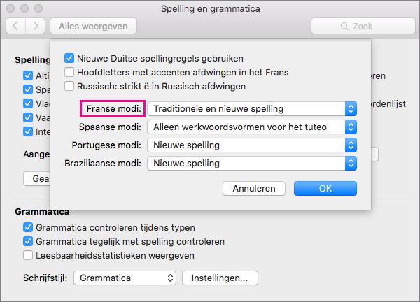 spellingscontrole franse tekst