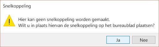 Snelkoppelingswaarschuwing in Windows 10