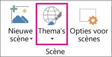 Optie Thema's van 3D-kaarten
