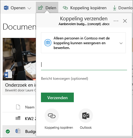 SharePoint Online: document delen
