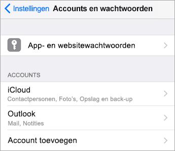 Accounttype kiezen