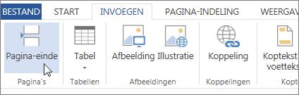 Knop Pagina-einde in Word Web App