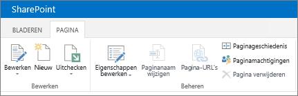 Lint in SharePoint 2013 linksboven in het scherm