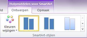Groep SmartArt-stijlen op het tabblad Ontwerp onder Hulpmiddelen voor SmartArt