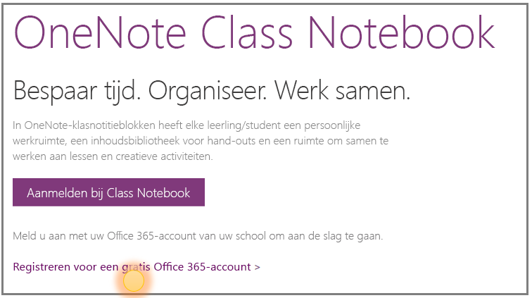 Schermafbeelding van hoe u een gratis Office 365-account kunt krijgen.