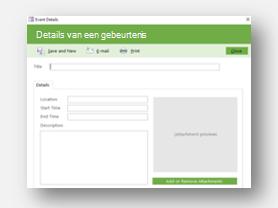 Sjabloon voor het beheer van gebeurtenis downloaden