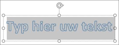 Tijdelijke aanduiding voor WordArt