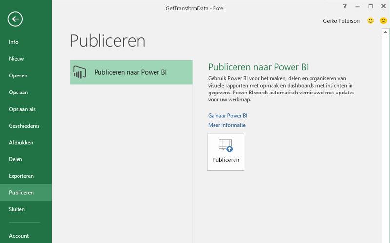 Publiceren naar Power BI
