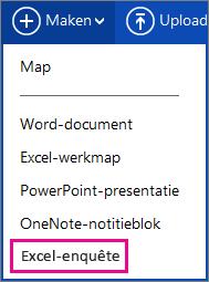Excel-enquête maken