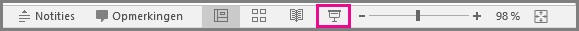 PowerPoint for Mac Slide Show icon in the status bar