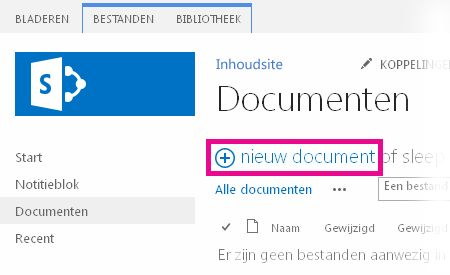 Klik op Toevoegen om bestanden naar de bibliotheek te slepen