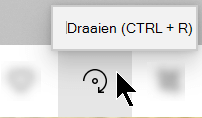 De knop draaien op de werkbalk van de app foto's.