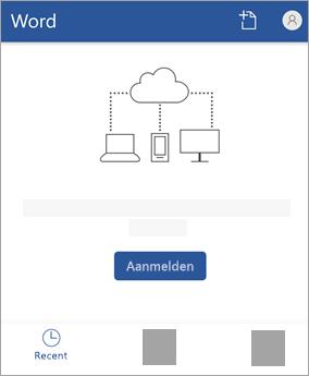 Meld u aan met uw Microsoft-Account of Office 365 werk of schoolaccount.