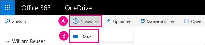 Een nieuwe map in OneDrive voor Bedrijven maken.