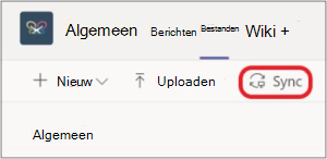 SharePoint-map synchroniseren met Teams Ent